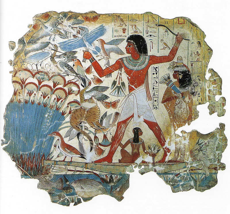 Сцена охоты в гробнице Небамона (XV-XIV века до н. э.)